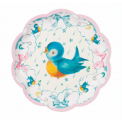 Assiettes baby shower birdy pastel