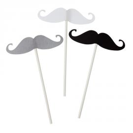 Piques moustaches - Lot de 12