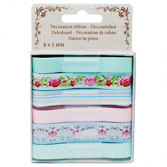 Coffret rubans Marie-Antoinette - Lot de 6