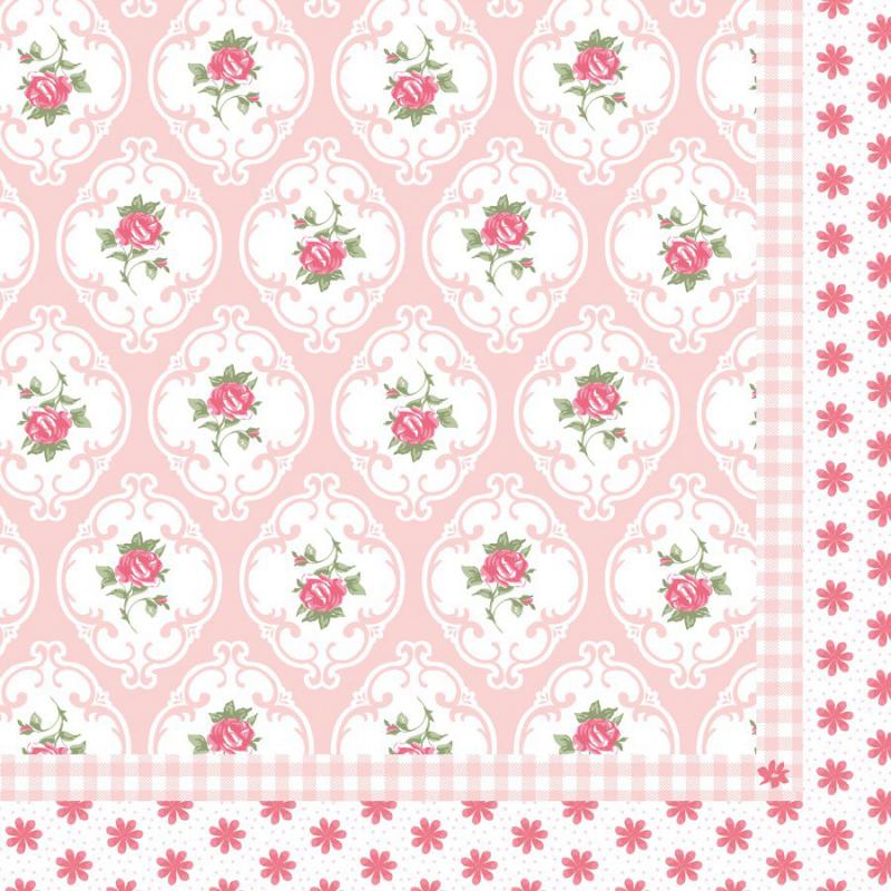 decoration de table serviettes papier medaillon romantique. Black Bedroom Furniture Sets. Home Design Ideas