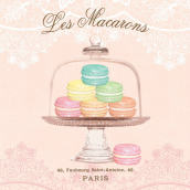 Serviettes papier tendres macarons - Lot de 20