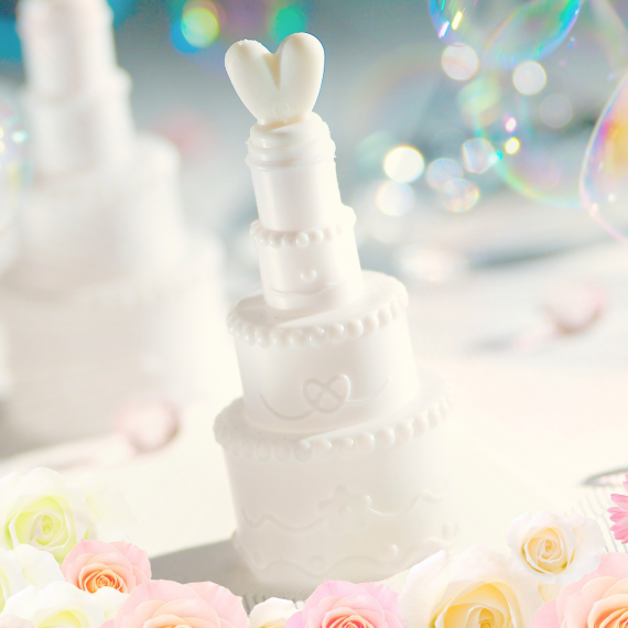 Bulles de savon wedding cake -