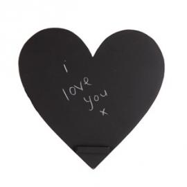 Tableau noir joli coeur