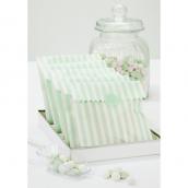 Sachets confiserie rayures vert mint