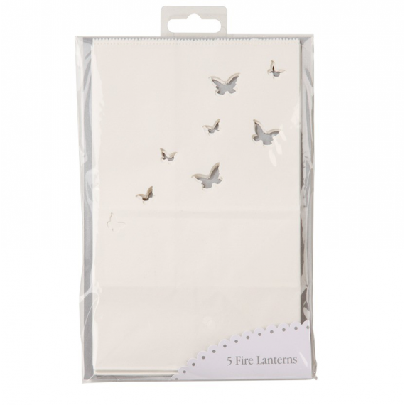Photophores papier papillons - Lot de 5