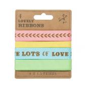 Set de 4 rubans sweet pastel