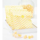 Sachets confiserie chevrons jaune