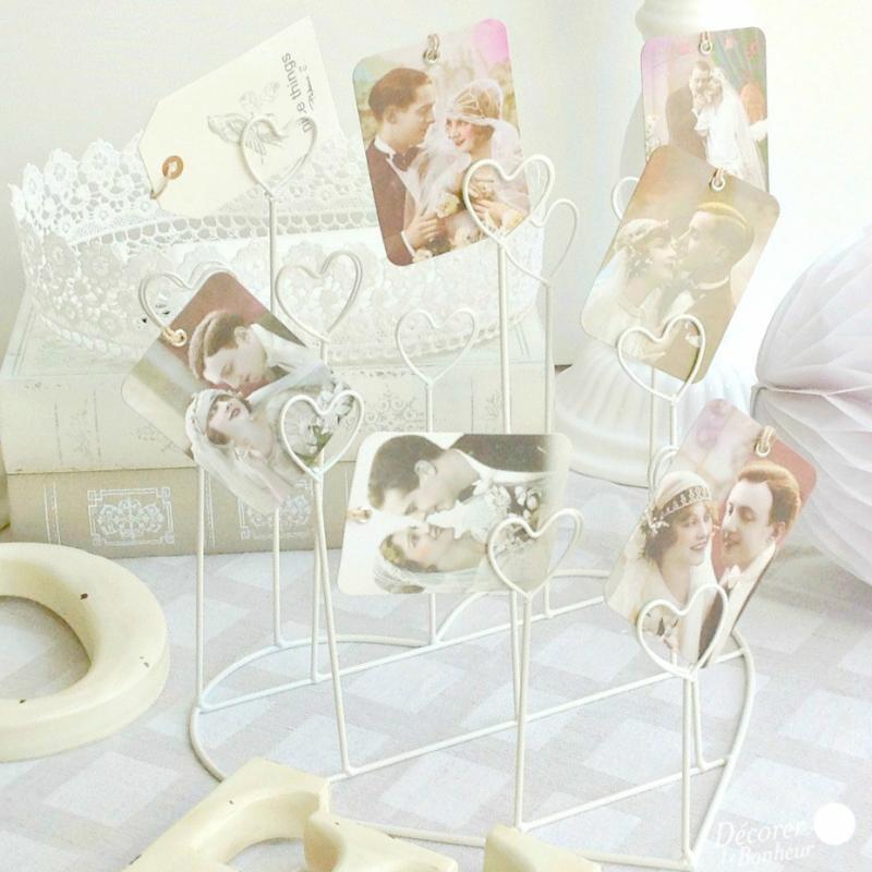 decoration mariage coeur marque place et photos. Black Bedroom Furniture Sets. Home Design Ideas