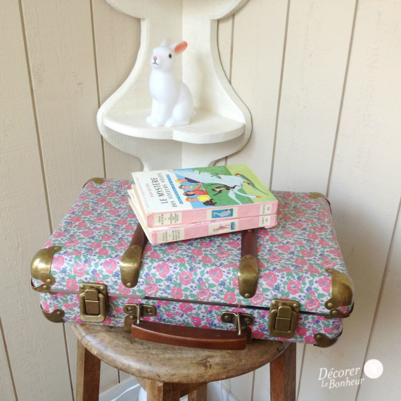 Valise vintage poppy Liberty