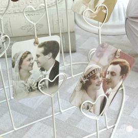 Etiquettes photos mariage rétro - Lot de 6