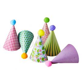 Chapeaux cônes de fête - Lot de 6