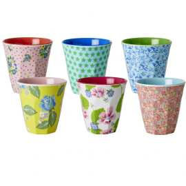 Coffret verres mélaninés smiley patch - Lot de 6