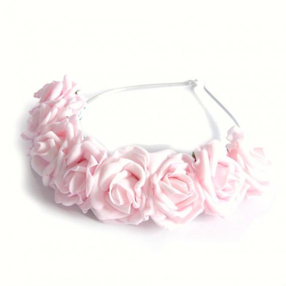 Couronne bandeau de roses dragées