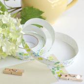 Ruban masking tape tissu liberty bleu