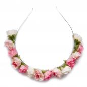 serre tête fleurs roses vanille fraise