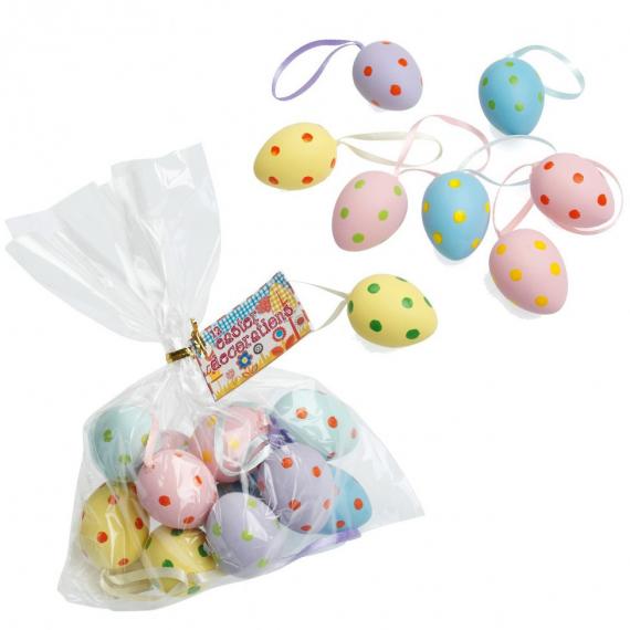 Oeufs de Pâques pastel dots