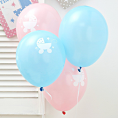 Ballons mix pastel Baby - Lot de 8