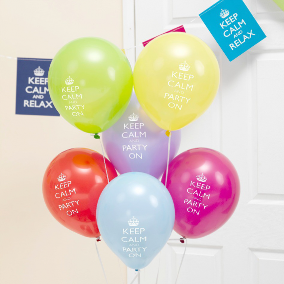 Ballons multicolor keep calm & party