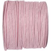 Cordelette papier laitonné rose pétale - Bobine de 20 mètres.