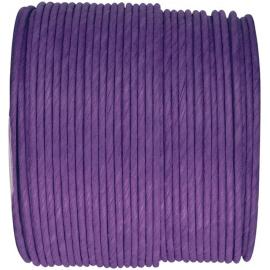 Cordelette papier laitonné violet - Bobine de 20 mètres