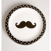 Assiettes funny moustaches