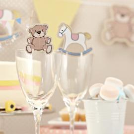 Marque-places baby nursery - Lot de 10