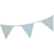 Guirlande fanions tissu bleu patch mix - 4 mètres