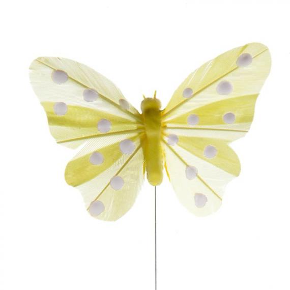 Papillons jaunes et pois blancs - Lot de 4