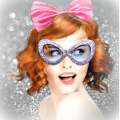 Lunettes pin up glitter color set - Lot de 3