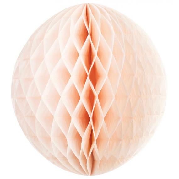 Grande boule papier rose pêche - 45 cm