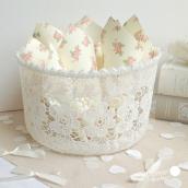 Panier crochet dentelle fleurs