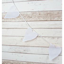 Guirlande lovely coeur coton blanc