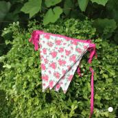 Guirlande de fanions tissu garden roses