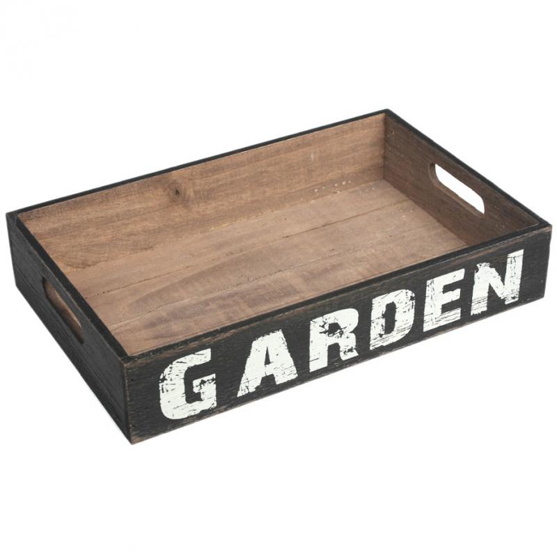 decoration buffet plateau bois patin garden. Black Bedroom Furniture Sets. Home Design Ideas