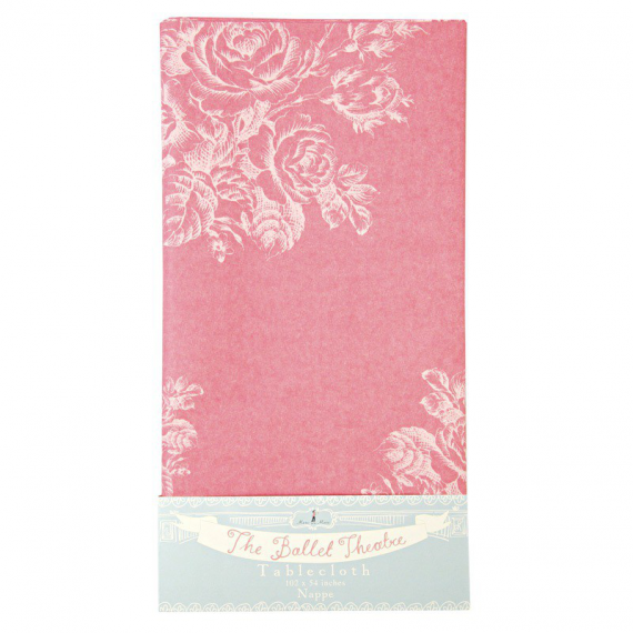 Nappe papier romantique rose