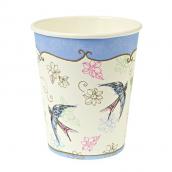 Gobelets blue bird romance
