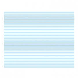 Nappe papier Fairy rayures bleues