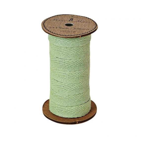 Bobine ruban corde coton vert