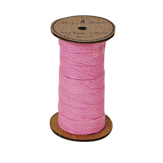 Bobine ruban corde coton rose