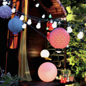 Guirlande lumineuse jolie guinguette - ampoules blanches