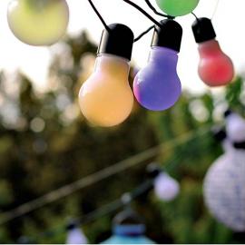 Guirlande lumineuse jolie guinguette - ampoules multi