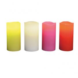 Grandes bougies LED color