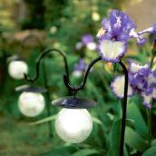 Pique solaire boule verre luciole