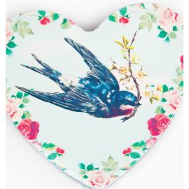 Boite métal coeur birdy