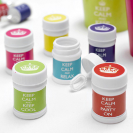 Bulles de savon keep calm - Lot de 6