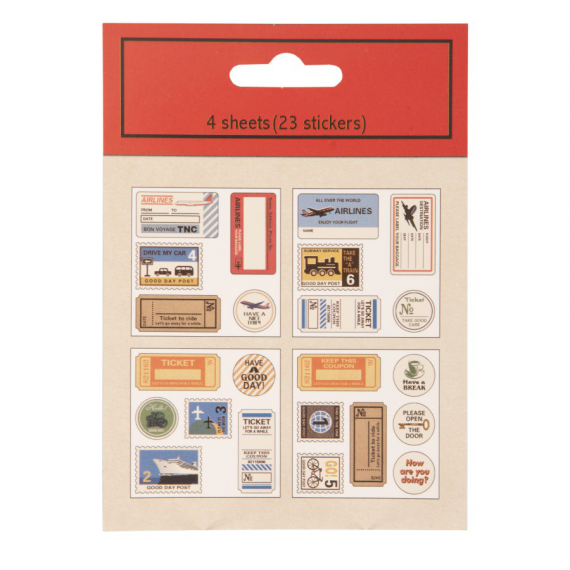 Stickers timbres vintage