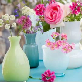 Vase verre opaline aqua