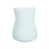 Vase verre arty opaline aqua