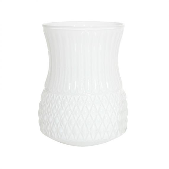 Vase verre arty opaline white