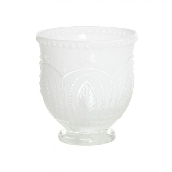 Vase verre tulipe opaline white